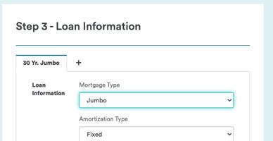 Jumbo Loan Screenshot